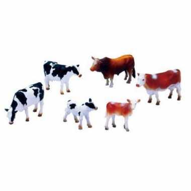 Boerderijdieren plastic koeien