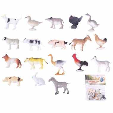 Plastic speelgoed boerderij dieren stuks