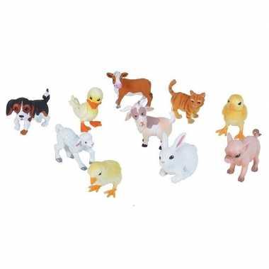 X boerderijdieren baby dieren speelgoed figuren