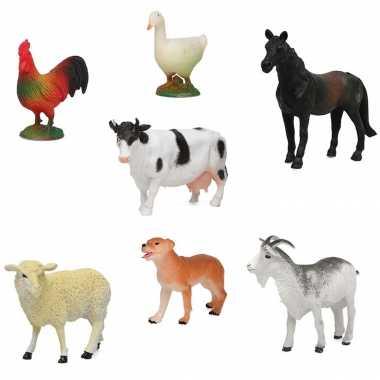 X plastic boerderij dieren speelgoed figuren kinderen