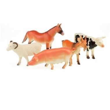 X plastic speelgoed boerderijdieren figuren