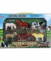 Speelgoed set plastic boerderij dieren stuks