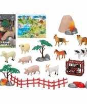 X plastic boerderij dieren speelgoed figuren kinderen 10187773